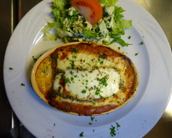 lasagne de boeuf gratninée au fromage Corse